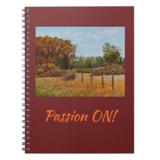"""""""Passion ON"""" 80 page notebook"""