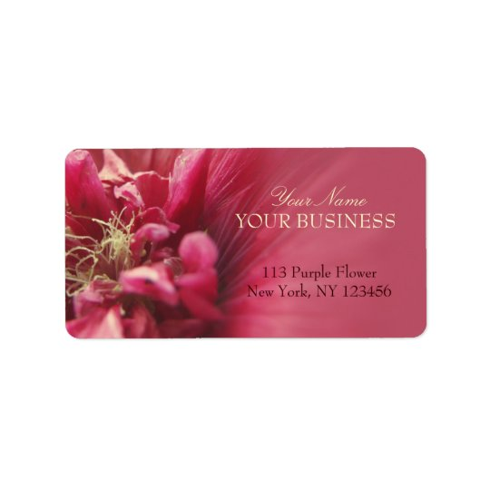 Passion Red Flower Label