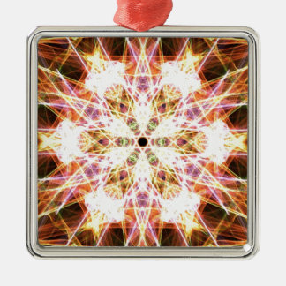 Passion Silver-Colored Square Decoration