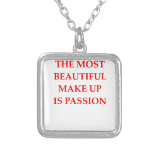 PASSION SILVER PLATED NECKLACE