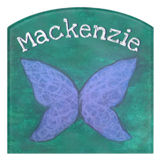 Passionate Decor | Name Butterfly Purple Blue Jade Door Sign