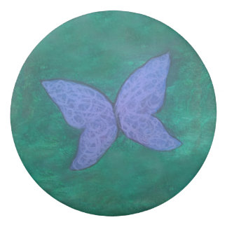 Passionate Office | Purple Blue Butterfly Green Eraser