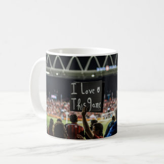 "Passionate soccer mug ""I love this game"""