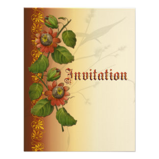 Passionflower Wedding Rust Invitation