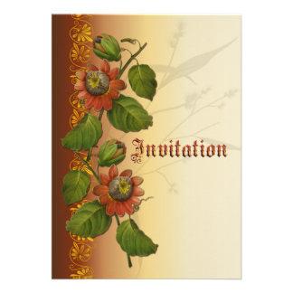 Passionflower Wedding Rust Custom Invitation