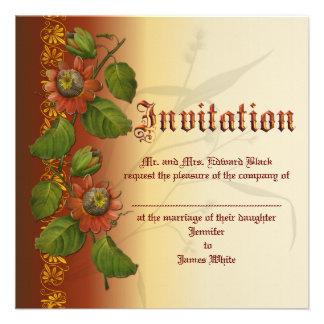 Passionflower Wedding Rust Invite