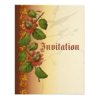 Passionflower Wedding Rust Custom Invites