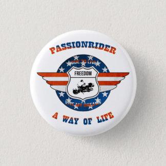 PassionRider swipes in 3 Cm Round Badge