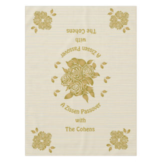 "Passover 52/70"" Tablecloth ""Personalized Seder"""