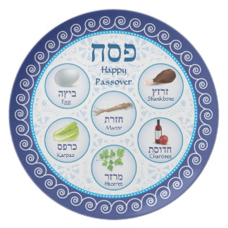 Passover Doily Seder Plate