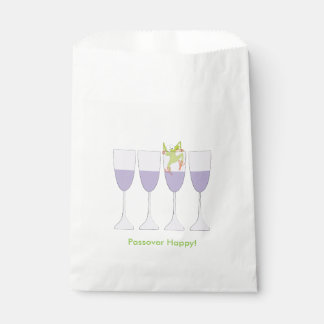 """Passover """"Frog and Wine"""" Goodie Favor Bag"""