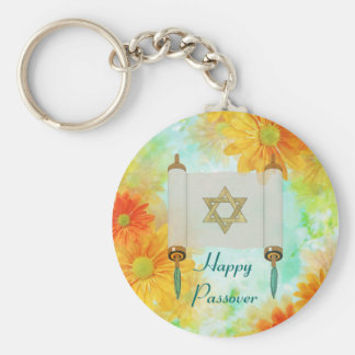 Passover Greetings Basic Round Button Key Ring