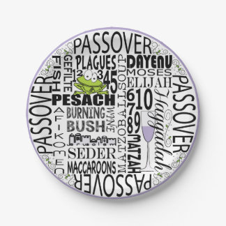 "Passover Paper Plate ""Dayenu and more..."" Pattern"