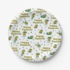"Passover Paper Plates ""Hoppy Passover"" Pattern"