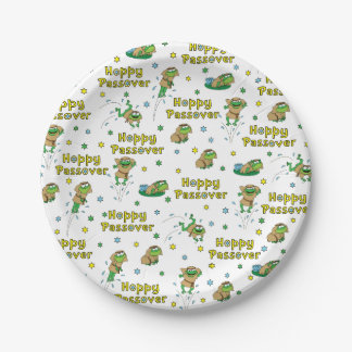 "Passover Paper Plates ""Hoppy Passover"" Pattern"