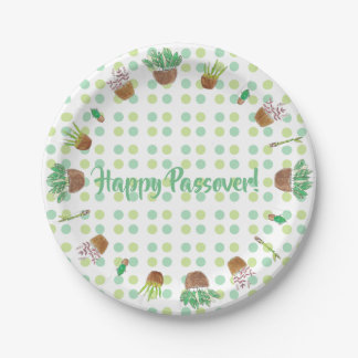 Passover Seder party paper plates