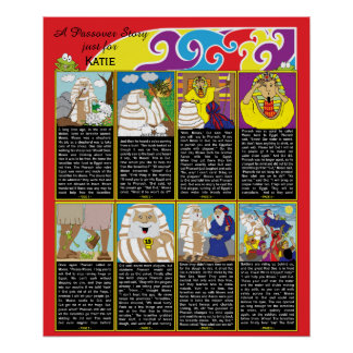 "Passover Story Poster 20"" x 24"" Matte Finish"