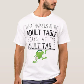 "Passover ""The Adult Table ""Men's Basic T-Shirt"" T-Shirt"