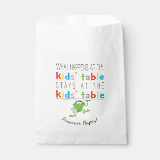 "Passover ""The Kids'Table"" Goodie Favour Bag Favour Bags"