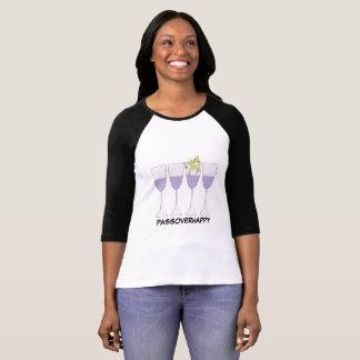 "Passover ""Wine and Frog"" Womens' Raglan Shirt"