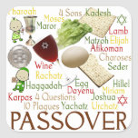 Passover Words and Symbols Stickers