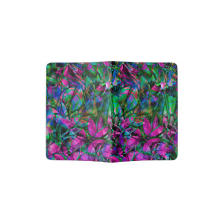 Passport Holder Floral Abstract Stained Glass