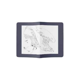 Passport holder in blue with Eagle image