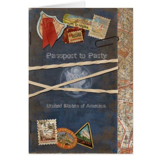 Passport Invitation Cards