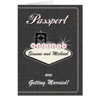 Passport Invitation or Save-the-Date LAS VEGAS