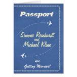 Passport Invitation or Save-the-Date Retro Airline