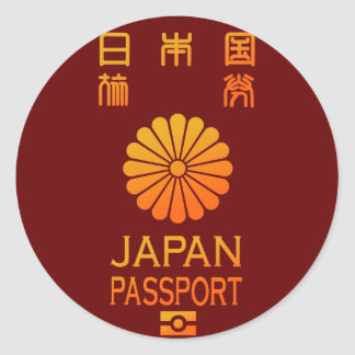 PASSPORT (JAPAN) CLASSIC ROUND STICKER