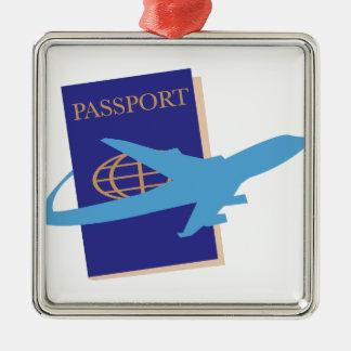 Passport Metal Ornament