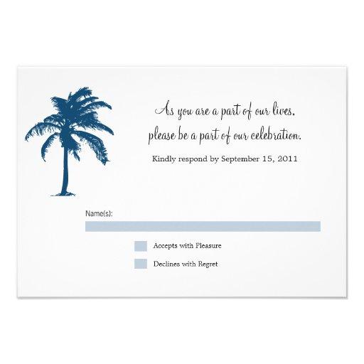 Passport RSVP Card Personalized Invite