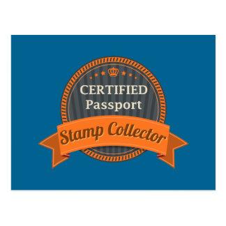 Passport Stamp Collector Postcard