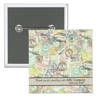 Passport Stamp Print Button