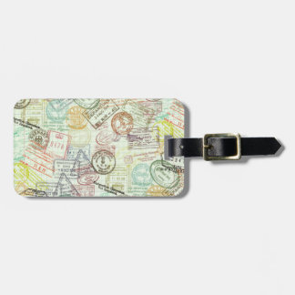 Passport Stamp Print Luggage Tag