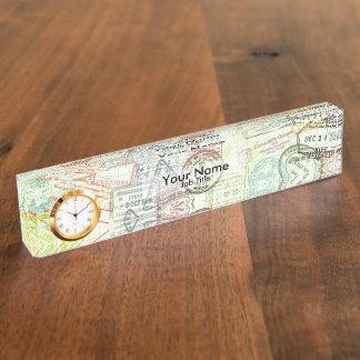 Passport Stamp Print Name Plate