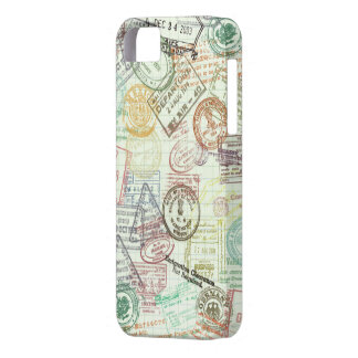 Passport Stamp Print Phone Case Barely There iPhone 5 Case
