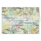 Passport stamp Travel Greeting Card-Thank you Card