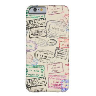 Passport Stamp Traveler Pattern Barely There iPhone 6 Case