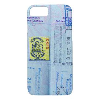 Passport Stamps Closeup iPhone 7 Case