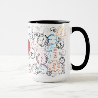 Passport Stamps Travel Design Mug