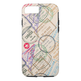 Passport Stamps Travel iPhone 7 Case