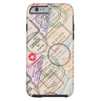 Passport Stamps Travel Tough iPhone 6 Case