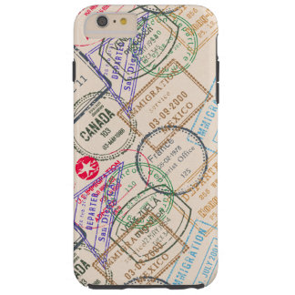 Passport Stamps Travel Tough iPhone 6 Plus Case