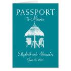 Passport to Cancun Mexico Wedding Card