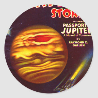 Passport to Jupiter Classic Round Sticker