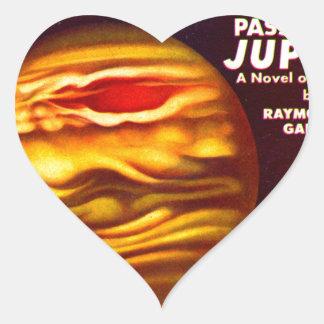 Passport to Jupiter Heart Sticker