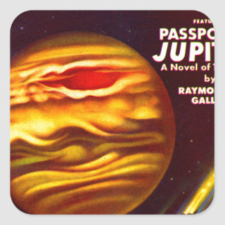 Passport to Jupiter Square Sticker