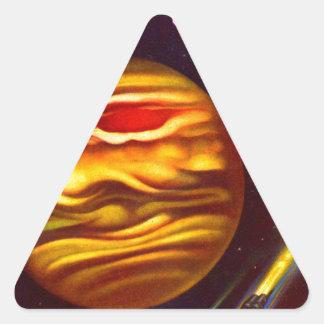 Passport to Jupiter Triangle Sticker